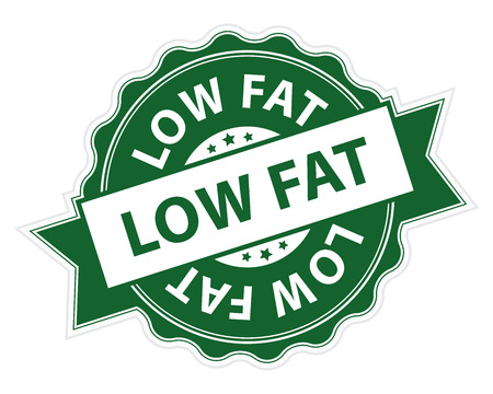 low cal: Green Low Fat Stamp, Label, Sticker, Icon or Badge Isolated on White Background Stock Photo