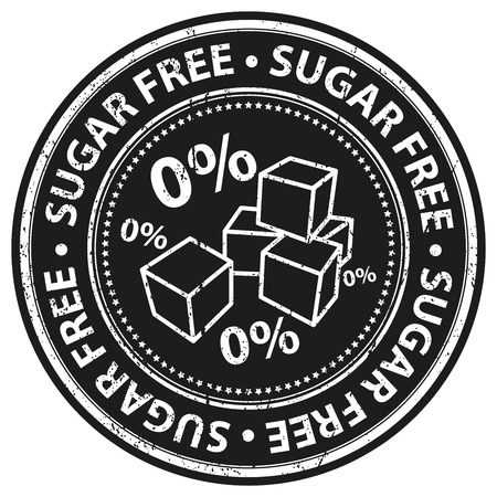 low cal: Black Grunge Style Sugar Free Icon, Badge, Label or Sticker for Food and Drink, Healthcare or Wellness Concept Isolated on White Background