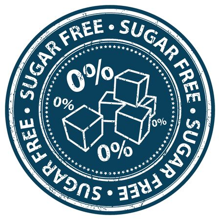 low cal: Blue Grunge Style Sugar Free Icon, Badge, Label or Sticker for Food and Drink, Healthcare or Wellness Concept Isolated on White Background Stock Photo