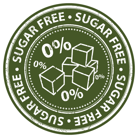 low cal: Green Grunge Style Sugar Free Icon, Badge, Label or Sticker for Food and Drink, Healthcare or Wellness Concept Isolated on White Background Stock Photo