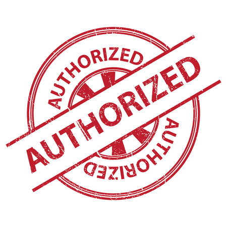 qc: Red Grunge Style Authorized Icon, Badge, Label or Sticker for Quality Management Systems, Quality Assurance and Quality Control Concept Isolated on White Background