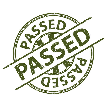passed: Green Grunge Style Passed Icon, Badge, Label or Sticker for Quality Management Systems, Quality Assurance and Quality Control Concept Isolated on White Background