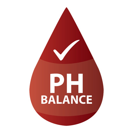 hypo: Red PH Balance Icon or Label Isolated on White Background