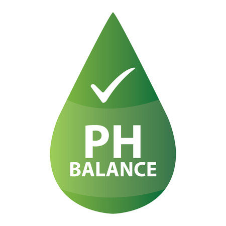 hypo: Green PH Balance Icon or Label Isolated on White Background Stock Photo