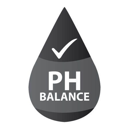 hypo: Black PH Balance Icon or Label Isolated on White Background