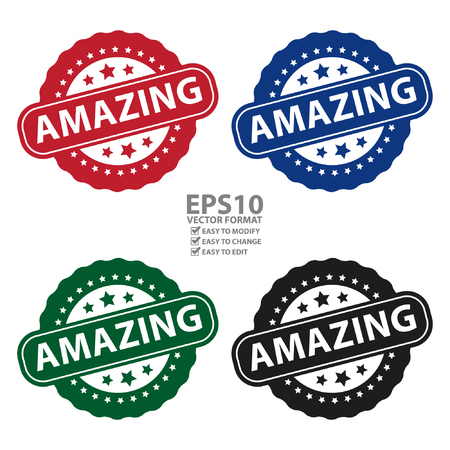 great job: Vector : Amazing Icon, Badge, Label or Sticker Isolated on White Background Illustration