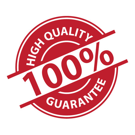 qc: Red 100% High Quality Sign, Icon, Label or Sticker Isolated on White Background