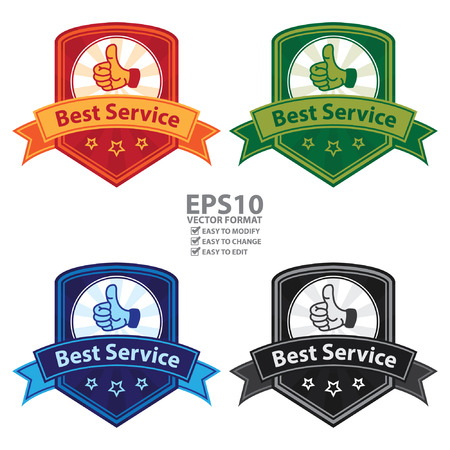 aftersale: Vector : Best Service Badge, Icon, Label or Sticker Isolated on White Background