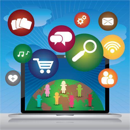 microblog: Social Media Social Network Online Business Concept