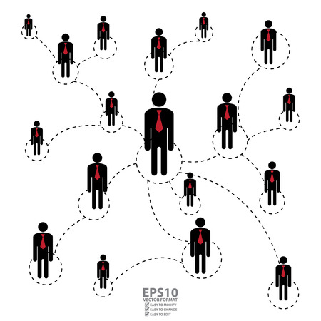 Vector : Graphic for Business Networking Business Partner MLM or MultiLevel Marketing Isolated on White Background