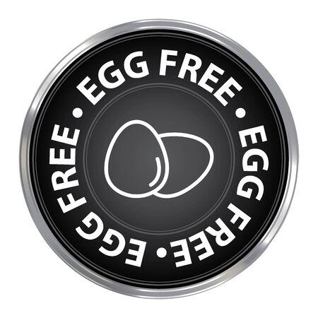 livestock: Black Circle Egg Free Icon Sticker or Label For Livestock Restaurant Food Health
