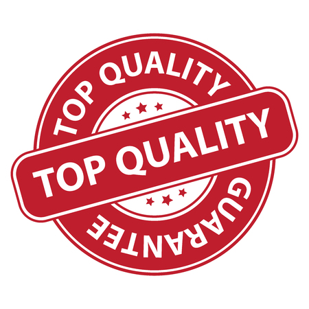 qc: Red Top Quality Badge Banner Sign Tag Label Sticker or Icon Isolated on White Background