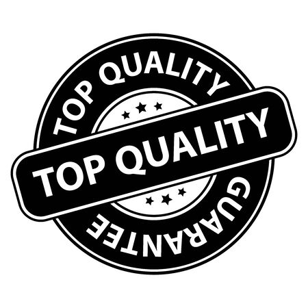 qc: Black Top Quality Badge Banner Sign Tag Label Sticker or Icon Isolated on White Background Stock Photo