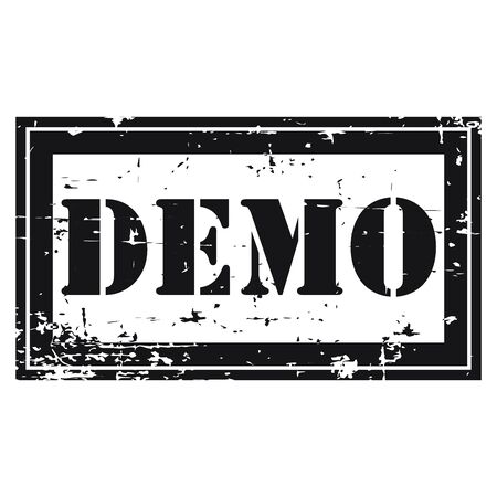 proved: Black Rectangle Grunge Style Demo Icon Rubber Stamp or Label Isolated on White Background