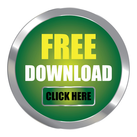 plugin: Green Circle Metallic Free Download Click Here Label Sign Sticker or Icon Isolated on White Background Stock Photo