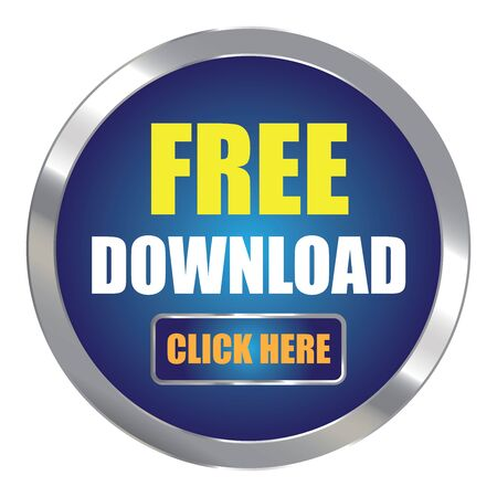 plugin: Blue Circle Metallic Free Download Click Here Label Sign Sticker or Icon Isolated on White Background