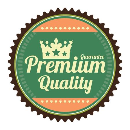 qc: Green Guarantee Premium Quality Guarantee Badge Banner Sign Tag Label Sticker or Icon Isolated on White Background
