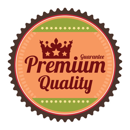 qc: Orange Guarantee Premium Quality Guarantee Badge Banner Sign Tag Label Sticker or Icon Isolated on White Background