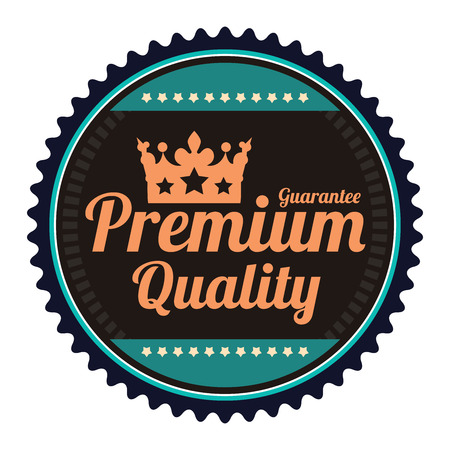 Black Guarantee Premium Quality Guarantee Badge Banner Sign Tag Label Sticker or Icon Isolated on White Background