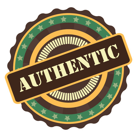 Green Vintage Authentic Icon, Badge, Sticker or Label Isolated on White Background Reklamní fotografie