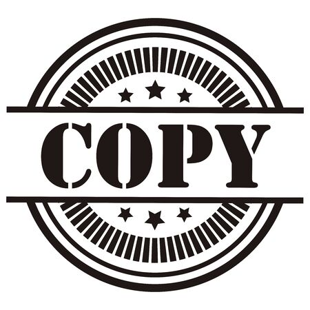 Black Copy Icon,Sticker or Label Isolated on White Background Reklamní fotografie
