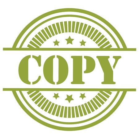 Green Copy Icon,Sticker or Label Isolated on White Background