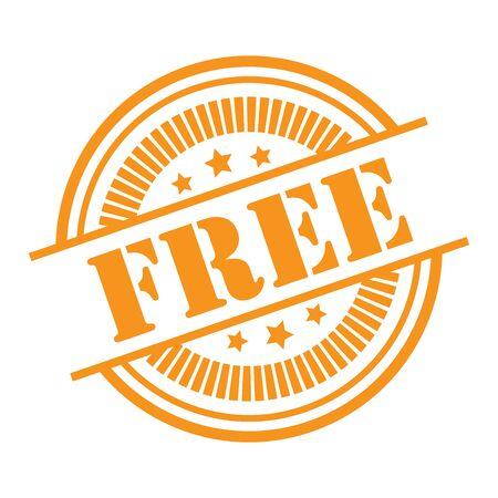 Orange Free Icon,Sticker or Label Isolated on White Background