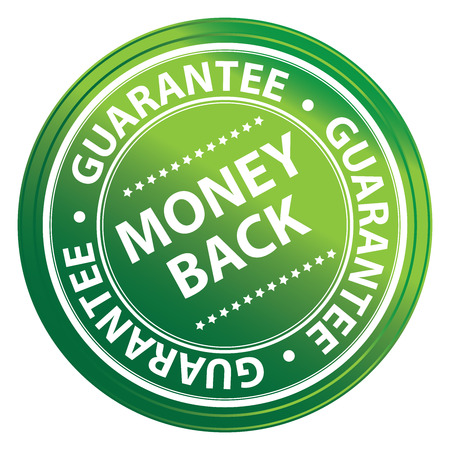 Green Circle Money Back Guarantee Icon,Sticker or Label Isolated on White Background Reklamní fotografie