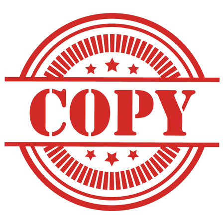 Copy Icon,Sticker or Label Isolated on White Background