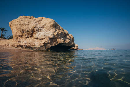 Summer rest. Coral Coast Red Sea at morning