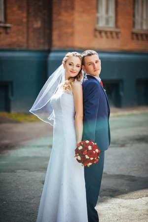 sumy: Beautiful Wedding walk on nature Ukraine Sumy