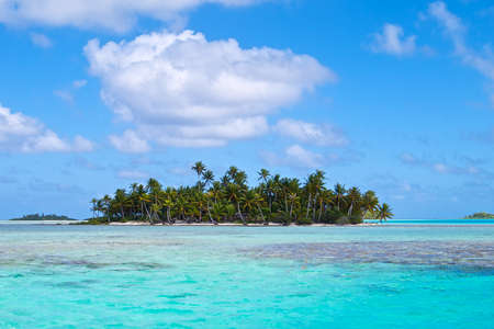Blue lagoon on Rangiroa atoll.