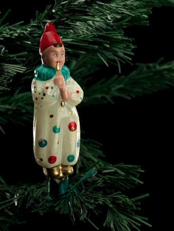 harlequin: Ancient Christmas-tree decoration from glass Harlequin
