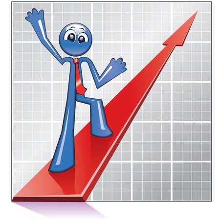 Economy growth Stock Vector - 4151380