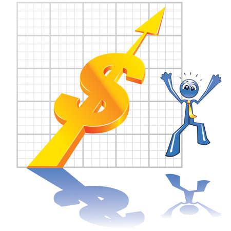 Economy growth Vector