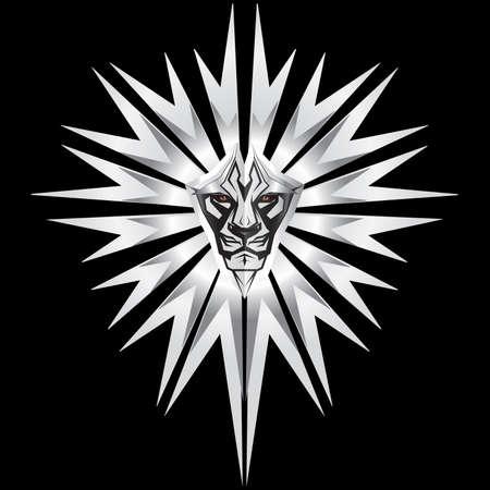 arrogancia: Met�lico de mayor representaci�n en el escudo frontal de metal Vectores