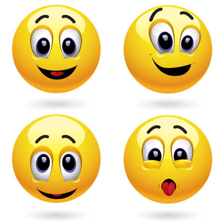 Smiling balls Vector
