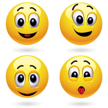 Smiling balls Stock Vector - 4667271