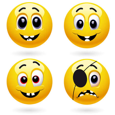 different emotions Stock Vector - 4667282