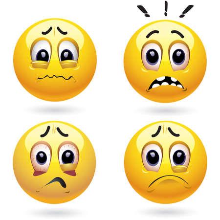 horrify: Frightened smiling balls