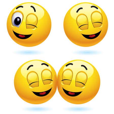 blinking: Sonriendo y gui�ando bola parpadear