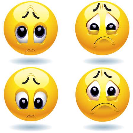 Sad smiling balls Stock Vector - 4667305