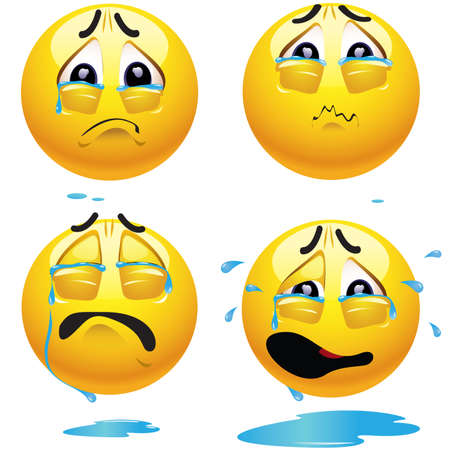Sad smiling balls Vector