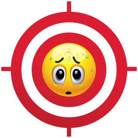 paniek: Glimlachende bal kijken bang op gevaar