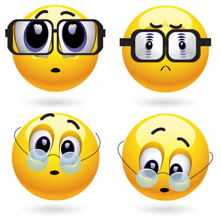 Smiling ball with different dioptre of a lens Stock Vector - 4677393