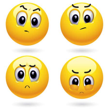 Irritaded smiling balls acting rebelous Stock Vector - 4677382