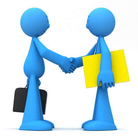 buen trato: Empresarios shacking las manos despu�s de cerrar un trato de Dios