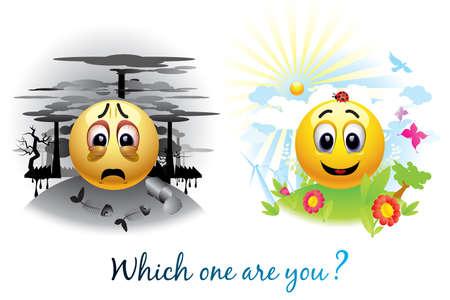 Bola de Smiley Enviar mensaje acerca de la contaminación