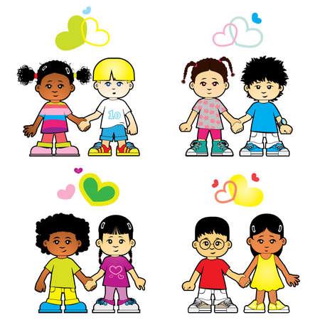 children love each other Vector