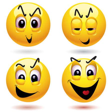 Evil smiley ball Vector